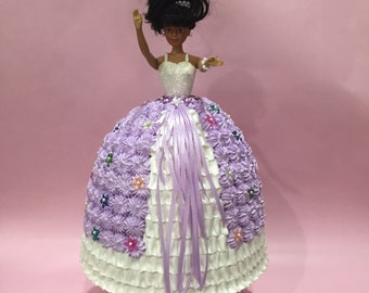 Artificial Cake ~ Cake Topper ~ Birthday Centerpiece ~ Closeout  Fake Cake ~ Faux Cake ~ Doll Cake ~ Quinceanera Decoration ~ Doll Displays.