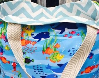 Beach bag, diaper bag, tote, chevron tote, reversible tote, monogrammed tote, monogrammed beach bag, large tote, tote, bag, large bag, large
