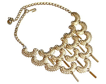 Sarah Coventry Gold Bib Necklace