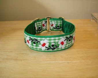 Green Check Daisy House/Martingale Collar