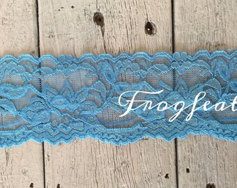STRETCH Lace  BLUE no. 399-2 inch -2 yards for 2.99