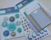 Basicgrey - Pinkfresh Studio - Project Life Scrapbook Embellishments - Lot of 3 Packages - Destash Sale