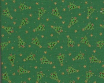 "Little Bit of Christmas Green Christmas Tree Fabric - 40""W x 44""L Piece"