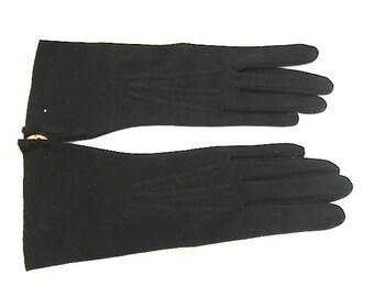 Vintage Black Cotton Gloves