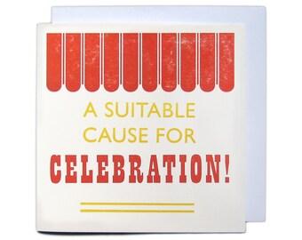 Letterpress Festival Greetings Card - Celebration