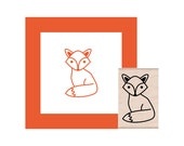 Fox Rubber Stamp