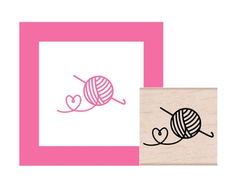 Crochet Love Rubber Stamp