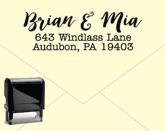 New for 2016 FREE US SHIPPING * Self Inking Return Address Stamp * Custom Address Rubber Stamp (E419)