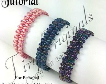 KR016 - TUTORIAL - Unspoken Bliss Bracelet Color Kit - Includes Instructions, Beadweaving Pattern Instructions