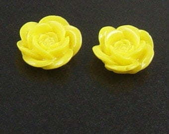 CLEARANCE Cabochon Flower 6 Resin Round Rose Purple Flower Opaque 18mm (1012cab18m4-6)os