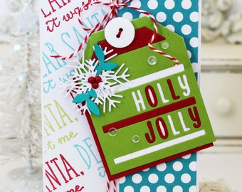 Holly Jolly...Handmade Card