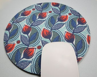 Buy 2 FREE SHIPPING Special!!   Mouse Pad, Fabric Mousepad    Tulip Garden