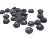 12 Pieces Natural Pyrite Cabochons-8mm (08PYRI)(B-5-19)