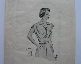 "1950s Blouse - 38"" Bust - Blackmore 7478 - Vintage Sewing Pattern"