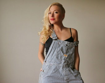 1950s Railroad Pay-day Overalls~Union Made~Size Extra Small to Small