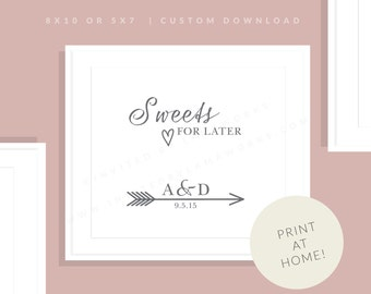 Candy Bar Wedding Sign   Printable Sweets Sign   Downloadable Candy Favor Sign   Wedding Day Sign   Reception Sign   Allie Collection
