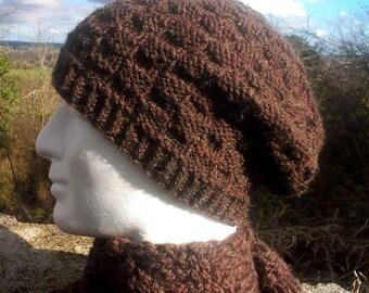Knitting PATTERN FARMERS MARKET Slouch Beanie Cap Woolen Knit Hat for Women TeensBeanie Knit Straight/Womans Knit Slouch Beanie Pattern