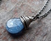 Kyanite Pendant on Sterling Silver Chain Necklace