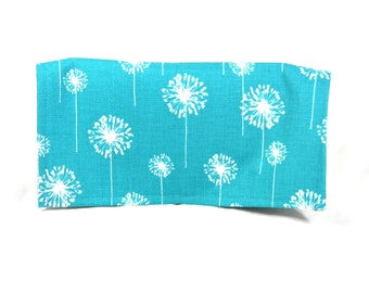 Coupon Organizer Dandelion on Turquoise Heavy Duty Fabric