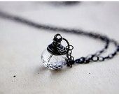 ON SALE Tourmalinated Quartz, Tourmalinated Black, Crystal Necklace, Crystal Pendant, Quartz Necklace, Quartz Jewelry, Crystal Jewelry, Pole
