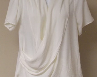 Vintage lot of 3 Moroccan drapey blouse tops open to waist overlap