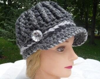 Crochet Pattern Sassy Rib Newsboy Instant Download