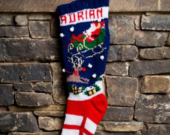 Night before Christmas, Christmas Stocking, Christmas Stocking Pattern, Christmas Stocking Design, Family Stocking, Christmas Knitting