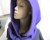 SALE - Vibrant Purple Fleece Hooded Cowl (5475)