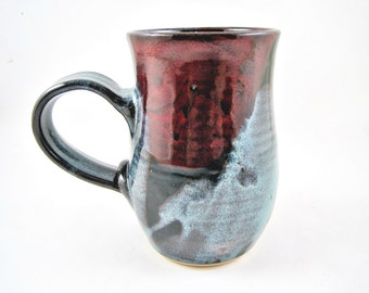 Handmade pottery mug, large ceramic mug, 22 oz. coffee mug - In stock