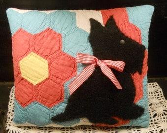 Applique Sewing Pattern ~ Scottie Dog Scotty Dog Scottish Terrier Dog , Paper Pattern Sewing Supplies