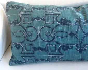 SEVILLE pillow cover 18x18 20x20 22x22 24x24 26x26 13x26 12x20 prussian blue