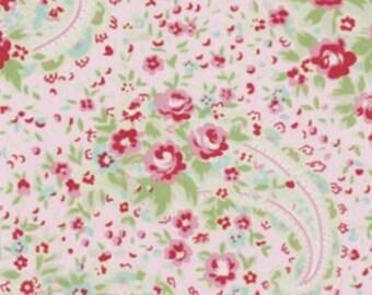 Free Spirit Tanya Whelan Roses Paisley Pink Delilah Fabric