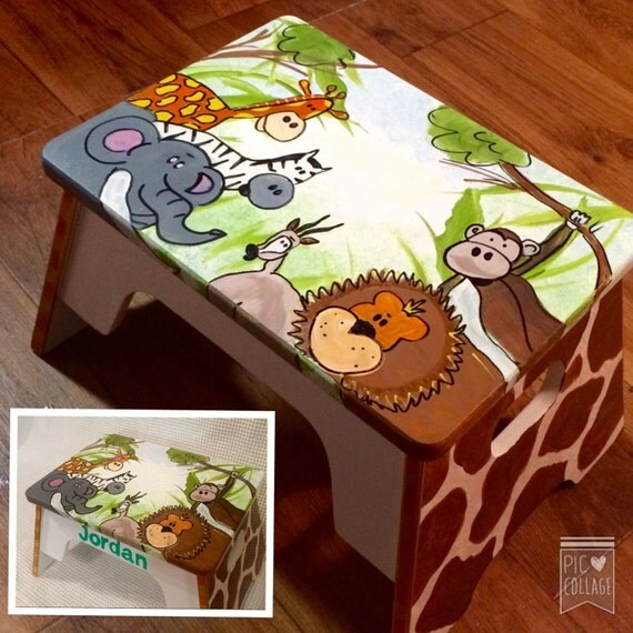 Whimsical Painted Furniture Childs Stool Painted Step