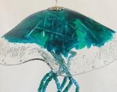 Hand Sculptured Semaeostomeae Design Jellyfish Sun Catcher