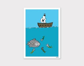 Merbuns Print