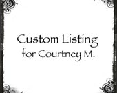 "Custom listing for Courtney M. 1/2"" ring band, spinner, 3 sterling spinners, 1 gold spinner, floral branch texture, custom, personalized"