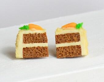 Carrot Cake Stud Earrings