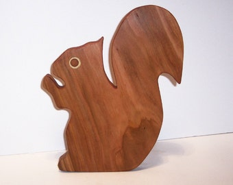 Squirrel Cutting Board Handcrafted from Cherry Hardwood