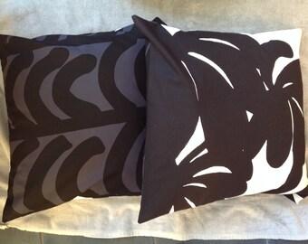 Marimekko cushion cover Päiväntasaaja/Rautasänky, TWO prints in one