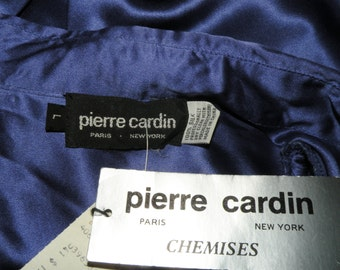 Pierre Cardin Chemise Silk Royal Blue Set with tags size L/14