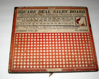 Vintage Chocolate Cream Punchboard Game
