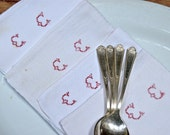 Charming Old White French Monogrammed Napkins