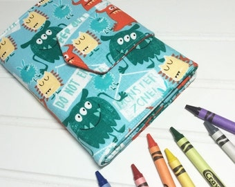 SUMMER SALE - Crayon Wallet - Hip Trendy Travel - Monster Zone