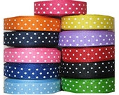 Grosgrain Group 3/8 Inch x 11 Yards - Swiss dots