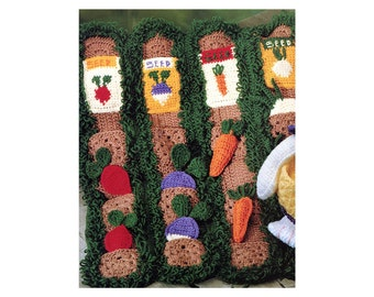 DIY Pocket Afghan Crochet Pattern Garden Harvest Busy Quiet Time Activity Nap Blanket Veggies in Garden Pockets Bunny Doll Baby Gift Toddler