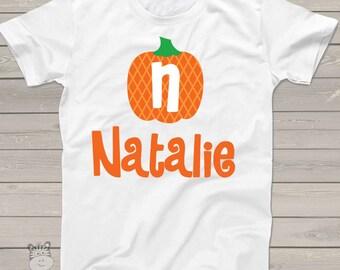 Fall pumpkin shirt - kids personalized shirt - Adorable custom and personalized pumpkin t shirt FPPTS
