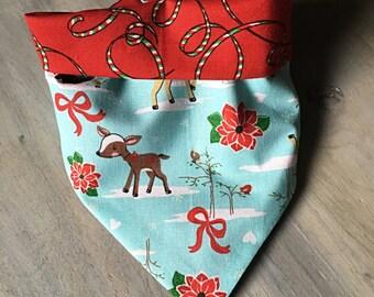Small  Dog Reversible Bandana Christmas
