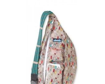 Monogrammed Kavu Rope Bags - Trail Marker - Great gift for College, Teens, Women, Outdoors Satchel Crossbody Tote
