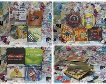 Vintage Cardboard Beer Coaster 60 Piece Lot Budweiser Longboard New Castle Drop Top Ale Coors Blue Moon