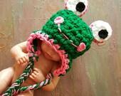 frog hat girl, newborn girl crochet hat, baby frog hat, newborn girl costume, baby frog hat, handmade crochet hat for girl